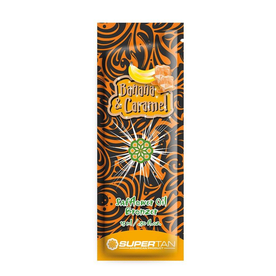 SuperTan - Super Sensations - Banana & Caramel, 15ml - jednorázový krém do solária