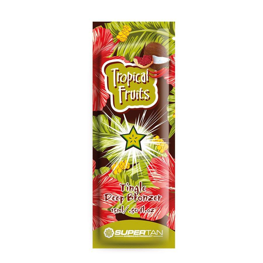 SuperTan - Super Sensations - Tropical Fruits, 15ml - jednorázový krém do solária