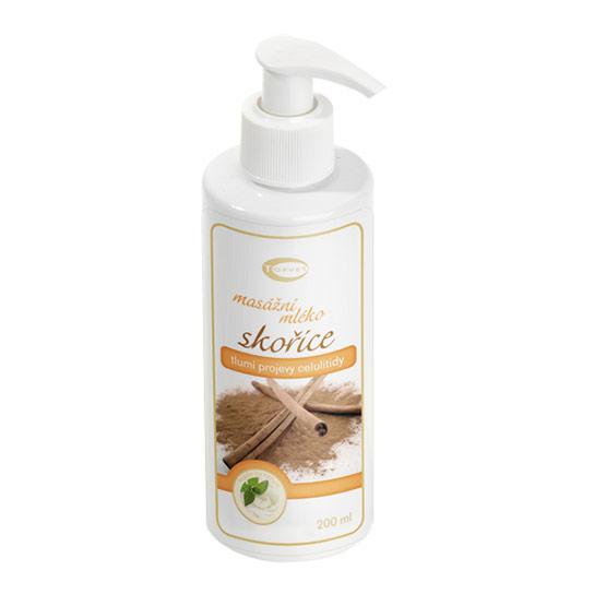 Topvet - Skořicové masážní mléko, 200ml