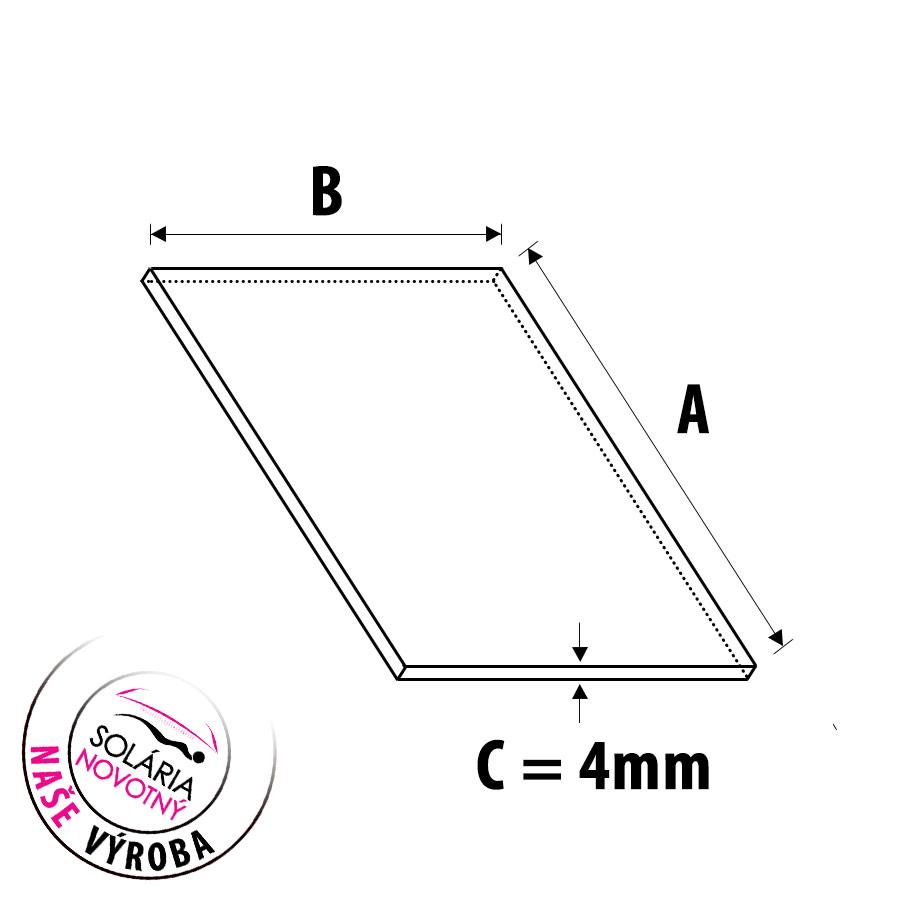 Plexisklo do solária - síla 4 mm