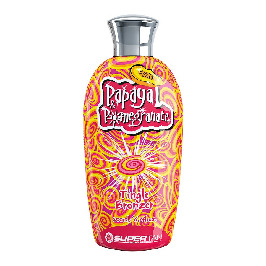 SuperTan - Super Sensations - Papaya & Pomegranate, 200ml - solární kosmetika